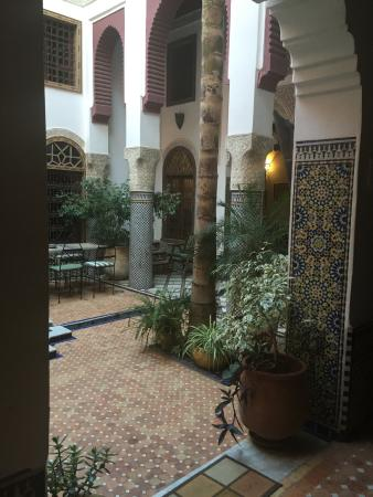 Riad El Ma : View from the door to our bedroom