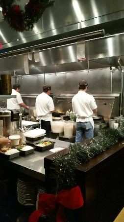 Basil Thai: Nothing to hide!  Sat right in front of the chefs working some Thai magic!!!