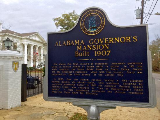 Governor's Mansion: Sign describing the house.