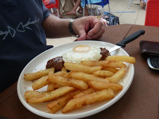 Mariners Restaurant: Steak, egg and hand cut potato chips