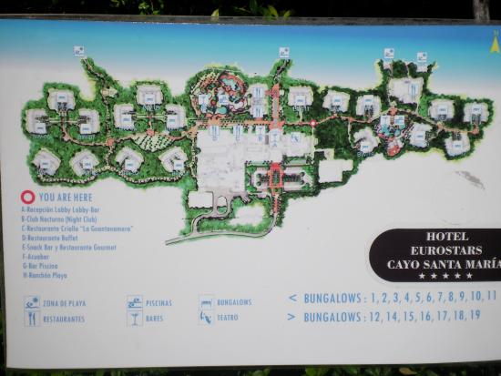 Resort map Picture of Golden Tulip Aguas Claras Cayo Santa Maria