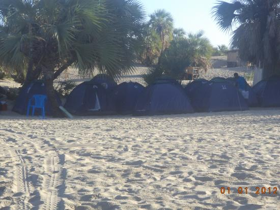 Turkana District, Kenya : Tents in the sand