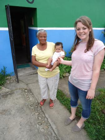 Tsalanang Township B&B: Our host with baby