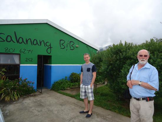 Tsalanang Township B&B: standing in front of the B&B in the gated car security area