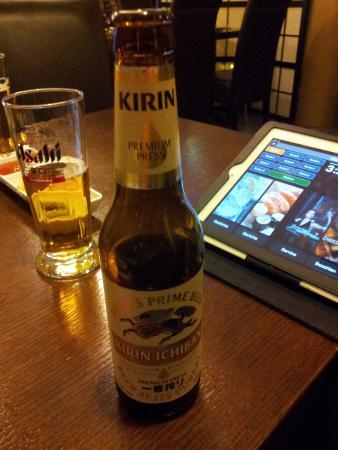 japanisches bier probieren picture of kahori sushi kaiserslautern tripadvisor. Black Bedroom Furniture Sets. Home Design Ideas