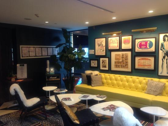 hall decor picture of the verb hotel boston tripadvisor. Black Bedroom Furniture Sets. Home Design Ideas