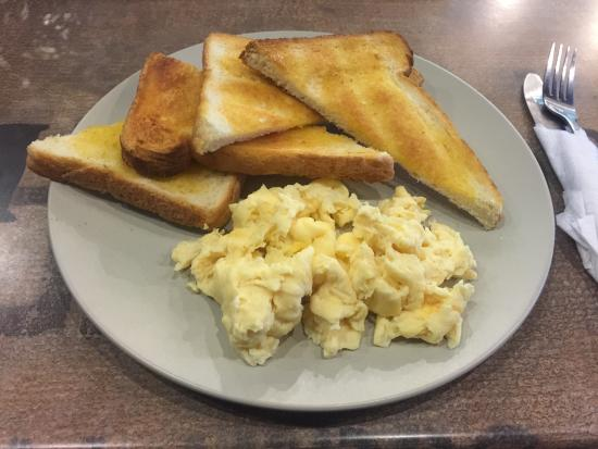 Scrambled eggs with toast - Picture of Cafe de Scent, Kingsford ...