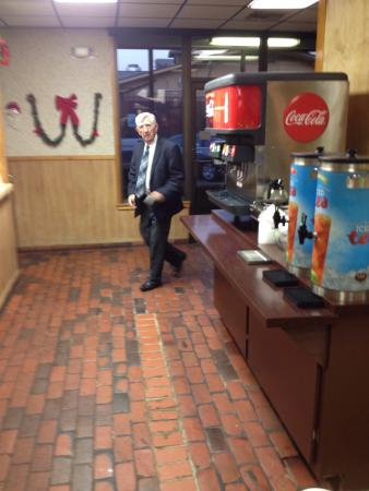 Andy's Hamburgers: Dale Wood, CPA, Wood & Wood, coming in for his morning breakfast and town talk!