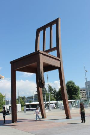 A Symbol For Peace The Broken Chair Opp Un Hq Geneva Picture Of
