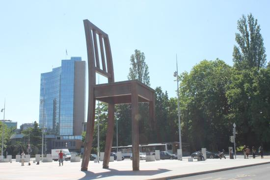 A Symbol For Peace The Broken Chair At Un Hq Geneva Picture Of