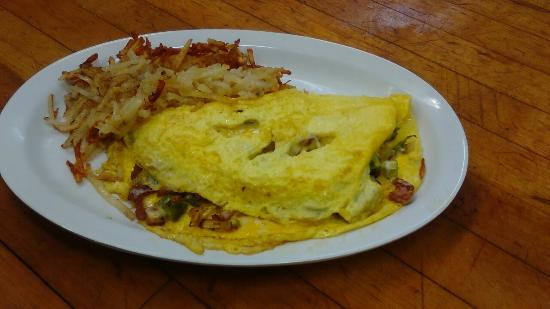 Bee Branch, AR: Try our combination omelet, with hash browns and your choice of toast for $6.29!