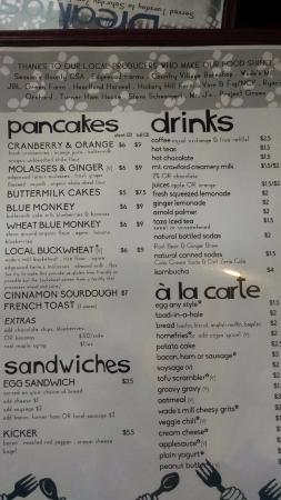 The Little Grill Collective: Other side of Menu