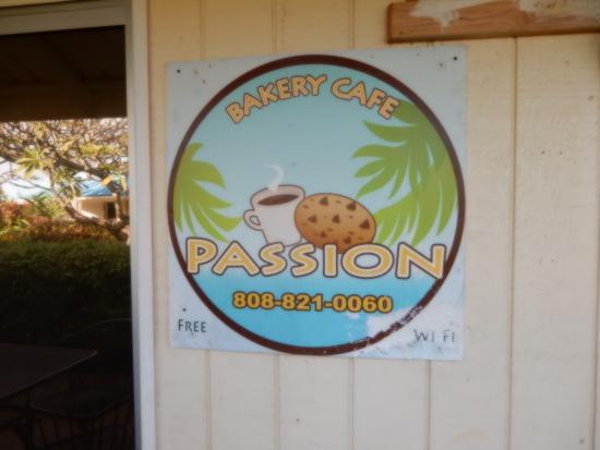 Passion Bakery Cafe : Signage