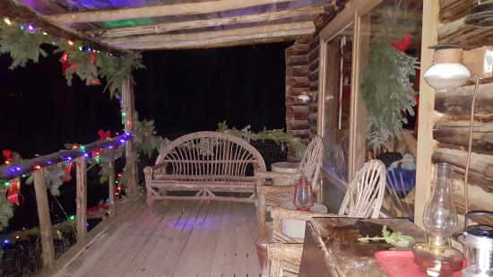 Laingsburg, MI: Porch outside of Santa's home