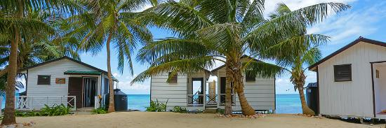 Tobacco Caye, Belize: cabanas by the water