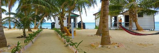 Tobacco Caye, Belize: our cabanas