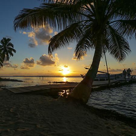 Tobacco Caye, Belize: sunset