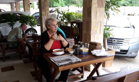 Khon Kaen Orchid: Morning paper in breakfast room