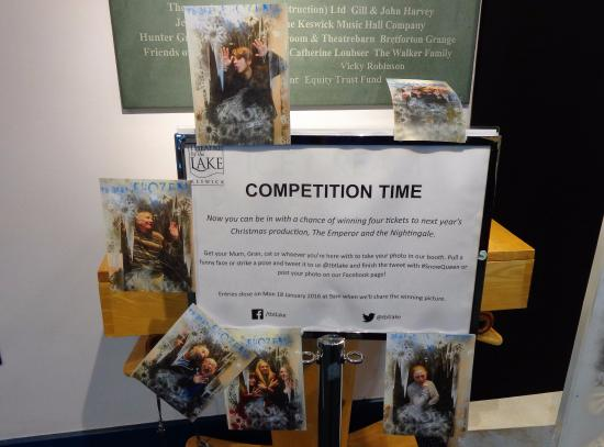 Theatre by the Lake : A competition open to all in the theatre foyer