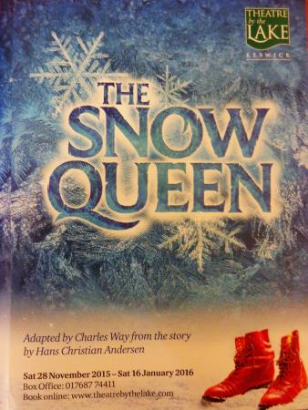 Theatre by the Lake : Advertising for 'The Snow Queen' (main theatre performance, December 2015 / January 2016)