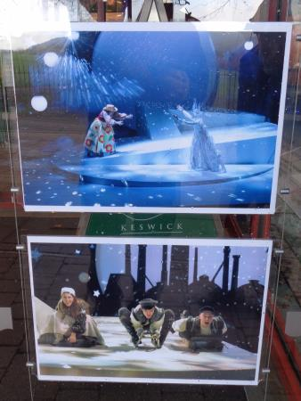 Theatre by the Lake : Photographs from the current performances shown at the theatre entrance ('The Snow Queen')