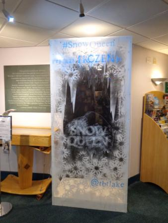Theatre by the Lake : Frozen by 'The Snow Queen' in the foyer of the theatre (Dec 2015 / Jan 2016)