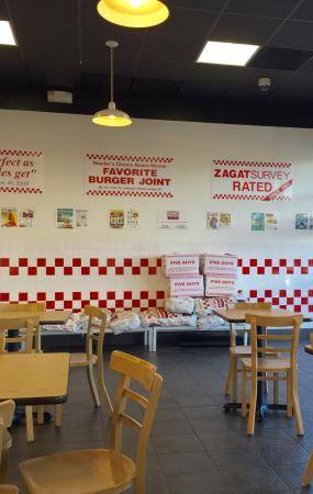 Five Guys: Boxes of salted peanuts