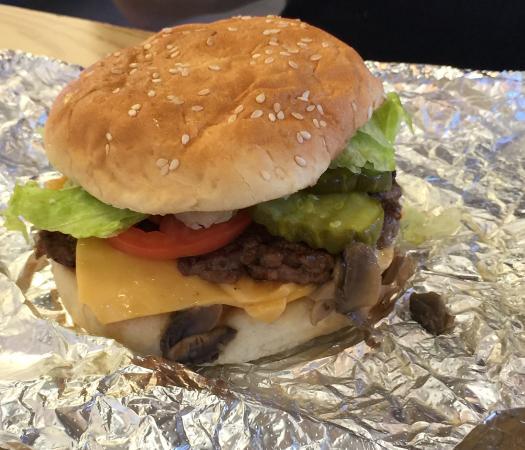 Five Guys: Really juicy cheeseburger