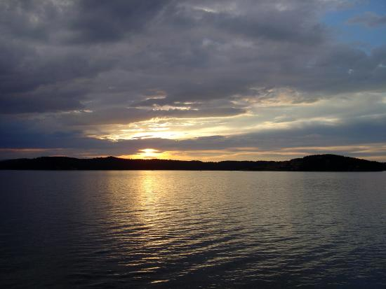 Butte, MT: Sunset over Georgetown Lake