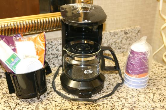 Wilmington, OH: Coffee Maker and Tea Supplies in your room for your convenience.