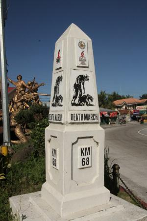 Balanga City, Filippinene: Marker along the path of the Death March