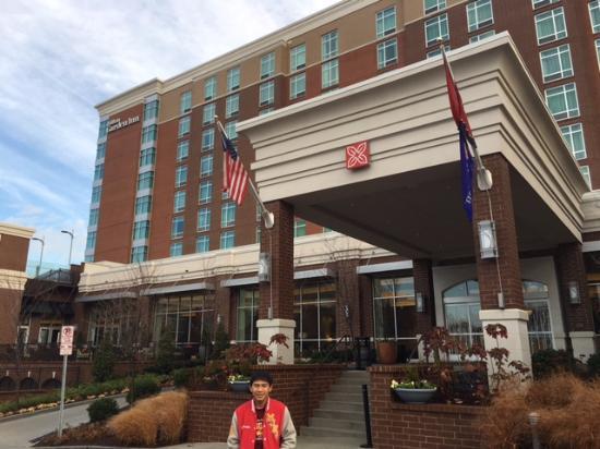 hilton garden inn nashville downtown convention center front of the hotel - Hilton Garden Inn Nashville Downtown