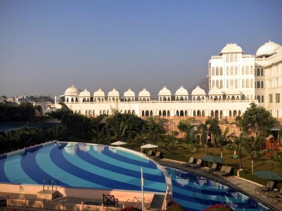 Pool Area Picture Of Radisson Blu Udaipur Palace Resort Spa Udaipur Tripadvisor