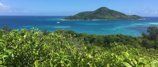 Cerf Island, Seychelles: View from the hill (Saint Anne in the background)