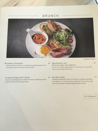 Menu Picture Of The Coffee Academics Singapore Tripadvisor