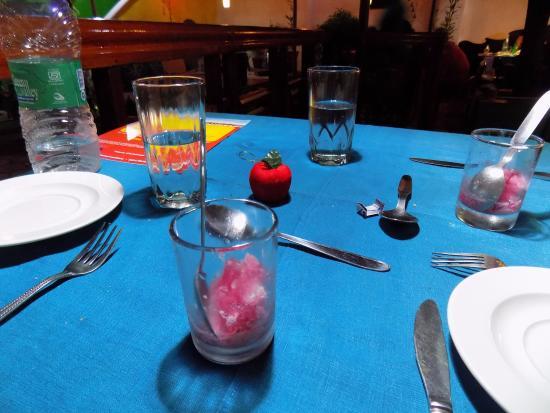 Rossitta Garden Restaurant: 4. Hibiscus and tender coconut