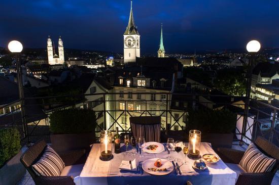 Widder Hotel : Rooftop Terrace by Night