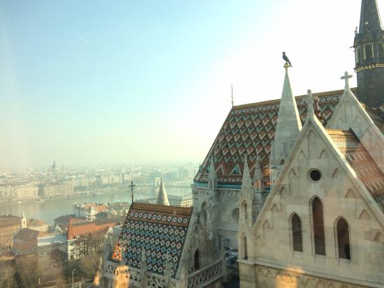 Hilton Budapest: View from hotel room