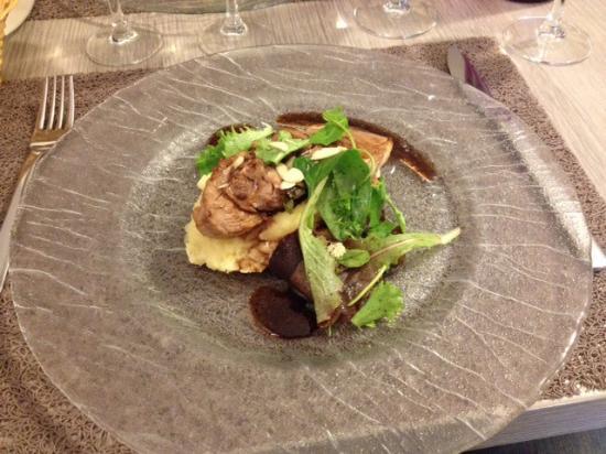Mayenne, Prancis: Filet Mignon de Porc avec Purée