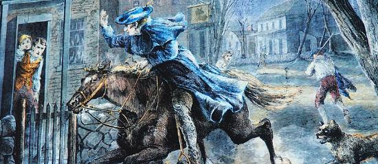 paul revere print picture of green dragon tavern and museum