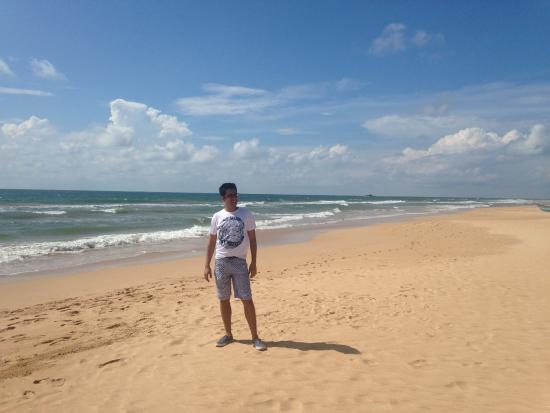 Bentota, Sri Lanka: taking a sun bath on the beach