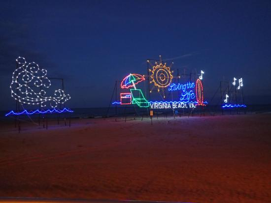 virginia beach christmas lights on the beach