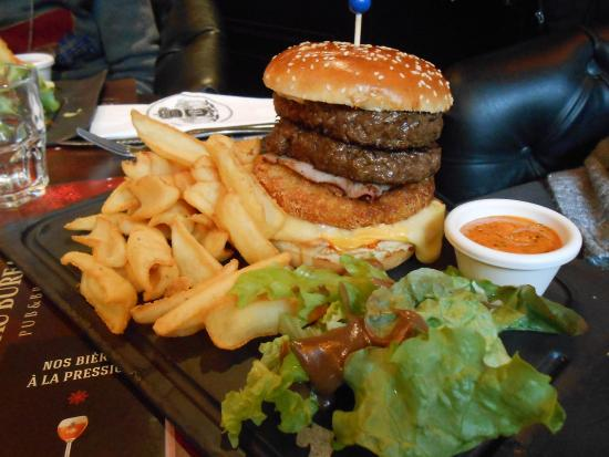 Doppio reblochon burger picture of au bureau reims tripadvisor