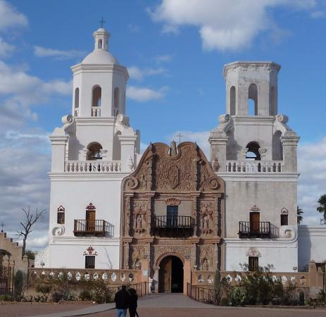 Lion outside - Picture of Mission San Xavier del Bac ...