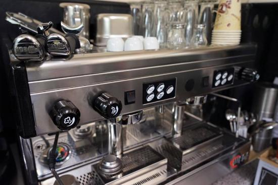 Hebburn, UK: coffee machine