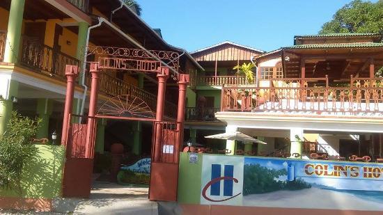 hotel front picture of colin 39 s hotel jacmel tripadvisor. Black Bedroom Furniture Sets. Home Design Ideas