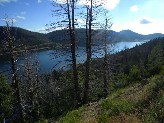 Navajo Dam, NM: Navajo Lake overlook