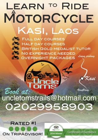 Uncle Tom's Trails - Private Day Tours: Motorcycle School Laos december 2015