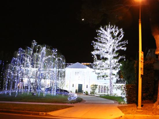 Christmas House During Night Tour Drive By Picture Of Vip