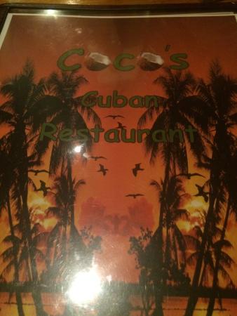 Coco's Cuban: Menu